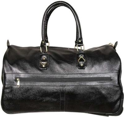 red cherry Large 37 L Strolley Duffel Bag   Genuine Leather Small Travel Bag   Black Gym Duffel Bag