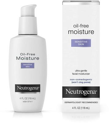 NEUTROGENA Oil-Free Facial Moisturizer, Sensitive Skin, 4 Fl Oz(118 ml)