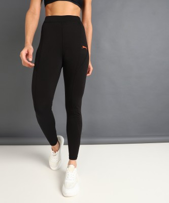 Slazenger Solid Women Black Tights