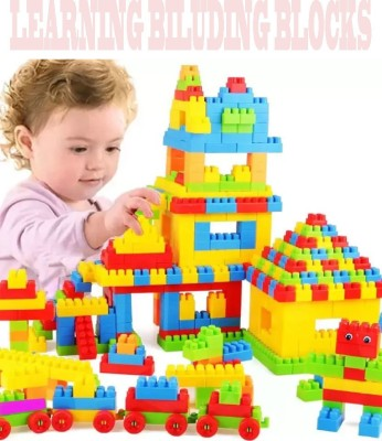FRAONY NEW ARRIVAL BEST BABY GIFT (92 Pieces +8 Tyres)100+pieces building blocks Plastic Building Blocks Bricks Toy For Baby Kids Funny Educational Creative /Learning Toy/For Kids Puzzle Toy NON TOXIC Assembling Building Unbreakable Kids Toy Set(Multicolor)