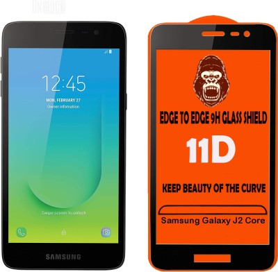 Unirock Edge To Edge Tempered Glass for Samsung Galaxy J2 Core(Pack of 2)