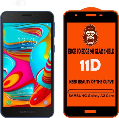 Unirock Edge To Edge Tempered Glass for SAMSUNG Galaxy A2 Core(Pack of 3)