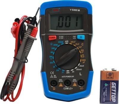 VAR TECH LCR Multimeter V 5300 M with Backlight Digital Multimeter(Blue, Black 2000 Counts)