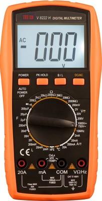 VAR TECH LCR Digital Multimeter V 8222 H,1000/750 V DC/AC Digital Multimeter(Black, Orange 2000 Counts)
