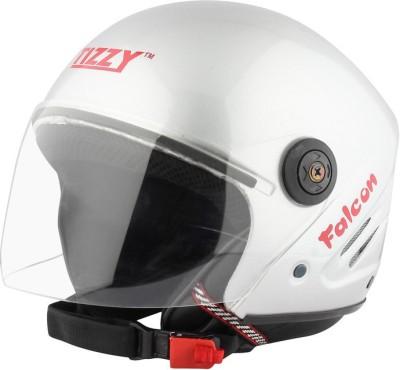 TIZZY (ISI) Half Face Helmet Motorbike Helmet(Silver)