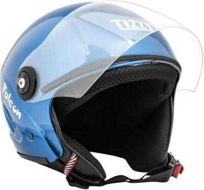 TIZZY (ISI) Half Face Helmet Motorbike Helmet(Blue)