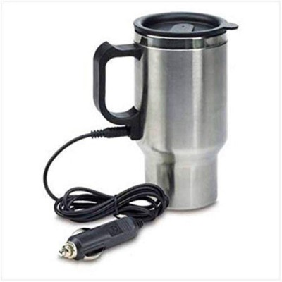 Wiremon 12V Car Charging Electric Kettle Stainless Steel Travel Coffee Cup Heated Thermos 450Ml Stainless Steel Coffee Stainless Steel Coffee...