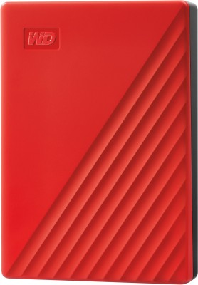WD 5 TB External Hard Disk Drive with 5 TB Cloud Storage(Red)