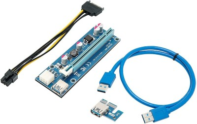 Xsentuals NVIDIA PCI-E Riser for Mining, PCIE 1x to 16x Graphics Card Extension Cable GPU Riser Adapter USB 3.0 6-Pin...