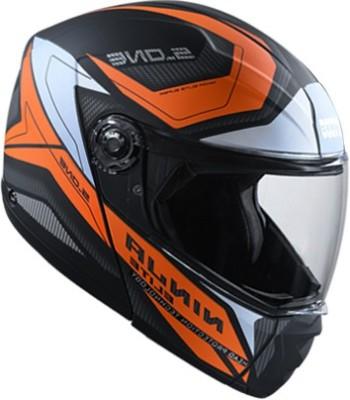 STUDDS NINJA ELITE SUPER D4 MATT BLACK N10 ORANGE 580 MM SIZE (LARGE) Motorbike Helmet(Multicolor)
