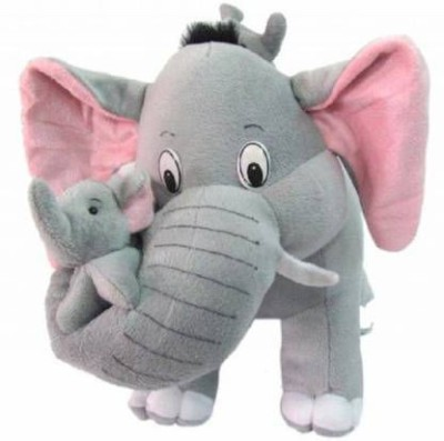 FUN2PLAY MOTHER ELEPHANT WITH BABY   20 cm  Multicolor    20 cm Brown FUN2PLAY Soft Toys