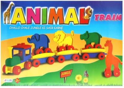 Ratnas Animal Train Multicolor Ratnas Blocks   Building Sets