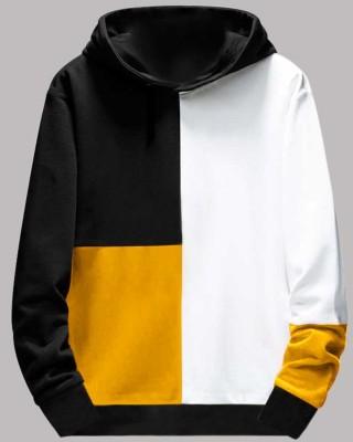 FastColors Color Block Men Mandarin Collar White, Yellow, Black T-Shirt