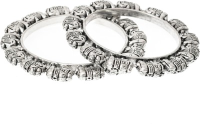 Rozy Style Metal Bangle Set(Pack of 2)