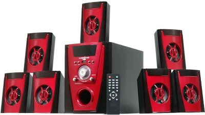 KRISONS Polo Red 7.1 |Home Theater 7.1|Bluetooth|AUX|FM|USB 70 W Bluetooth Home Theatre (Red, 7.1 Channel) 30 W Bluetooth Home Theatre(Black,...