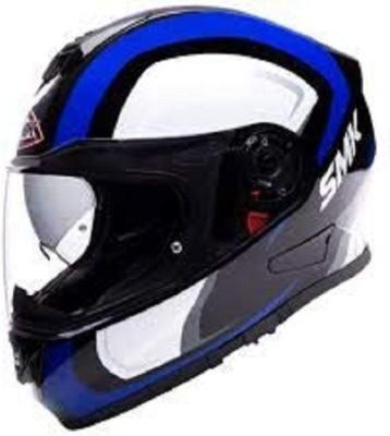 SMK GL251 Twister TWILIGHT Graphics Pinlock Fitted Full Face Helmet With Clear Visor Motorbike Helmet(Black, Blue, White)
