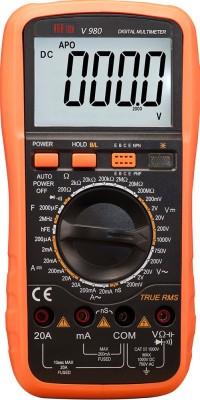 VAR TECH Multimeter V 980, 4½ Digits (20000 Counts) TRUE RMS, Full Function Protection with Backlight Digital Multimeter(Black, Orange 20000 Counts)