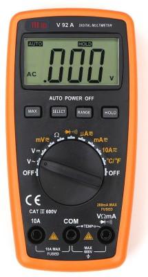 VAR TECH V 92 B, 3 3/4 Digits (4000 Counts), TRUE RMS, 600 V DC/AC, Auto Ranging Digital Multimeter(Black, Orange 4000 Counts)
