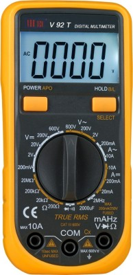 VAR TECH V 92 T, 3 1/2 Digits (2000 Counts) TRUE RMS, With Back Light Digital Multimeter(Black, Yellow 2000 Counts)