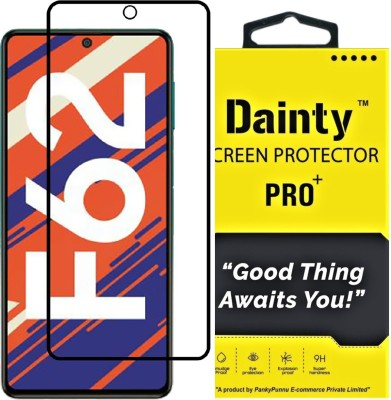 Dainty TECH Edge To Edge Tempered Glass for Samsung Galaxy F62, Samsung Galaxy M51(Pack of 1)