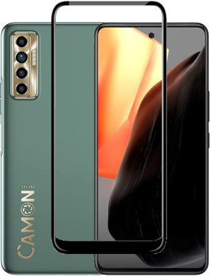ECMERED Edge To Edge Tempered Glass for TECNO CAMON 17, TECNO CAMON 17 PRO(Pack of 1)