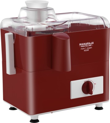 MAHARAJA WHITELINE Mark1 Classic / JE-106 450 W Juicer (1 Jar, Red, White)