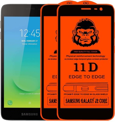 Xester Edge To Edge Tempered Glass for SAMSUNG GALAXY J2 CORE(Pack of 2)
