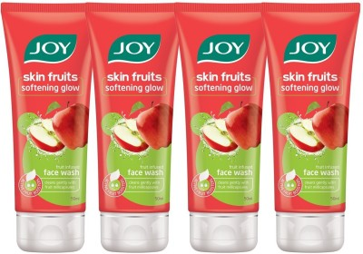 Joy Skin Fruits Softening Glow (Apple)(Pack of 4 x 50 ml) Face Wash(200 ml)