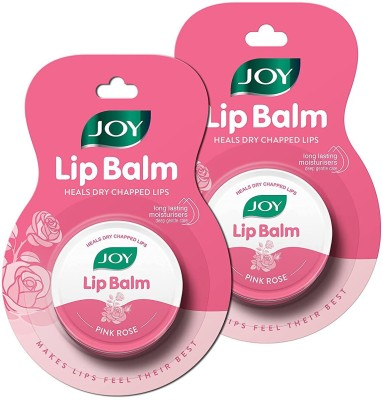 Joy Pink Rose Lip Balm | Heals Dry Chapped Lips | Rose Flavor | Deep Nourishing, Soft, Smooth, Healthy & Advanced Moisturization | Long-lasting Plump Lips Pink Rose(Pack of: 2, 20 g)