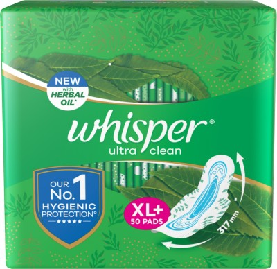 Whisper Ultra Clean XL+ Sanitary Pad(Pack of 50)