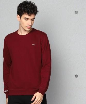 METRONAUT Full Sleeve Solid Men Sweatshirt
