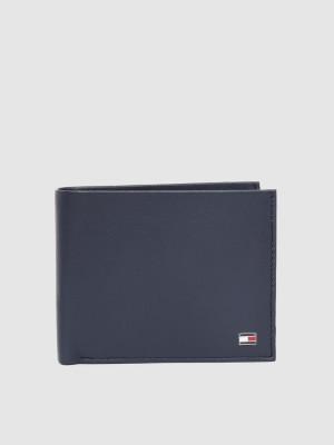 TOMMY HILFIGER Men Blue Genuine Leather Wallet 4 Card Slots TOMMY HILFIGER Wallets