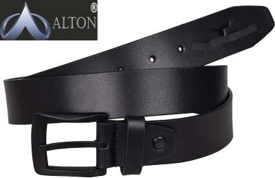 Alton Men Casual, Party Black Genuine Leather Belt