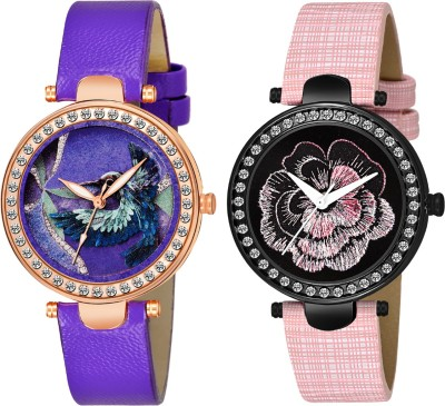 Stepso Bird Unique Dial Designer Simple Analog Leather Belt Analog Watch   For Girls Stepso Wrist Watches