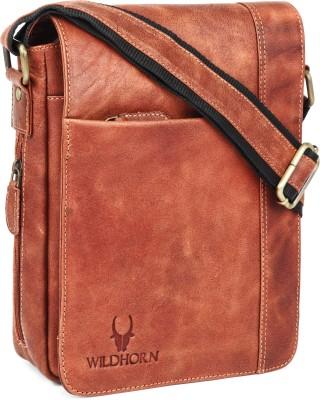 WILDHORN Men Tan Messenger Bag