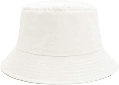 HANDCUFFS women's Hat Everyday Bucket Style Cotton Hat Lightweight Outdoor Summer Beach Vacation Getaway Headwear(White, Pack of 1)