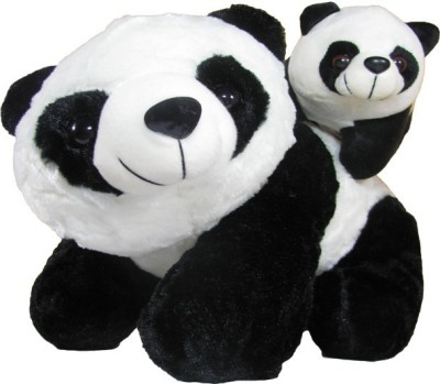 Tickles Mother Panda with Baby   40 cm Black Tickles Soft Toys