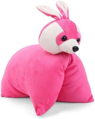 Tickles Rabbit Convertable Cushion   32 cm Pink Tickles Soft Toys