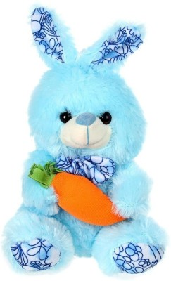 Tickles Lovely Rabbit With Carrot   22 cm Blue Tickles Soft Toys