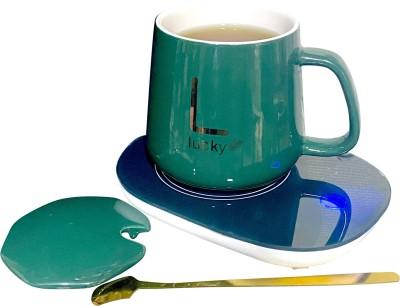 Lemon Tree Electric Coaster Pad, Warmer Cup Pad, Tea Coffee Heater Pad with Mug 500 ml Induction Cooktop(Green, Touch Panel)