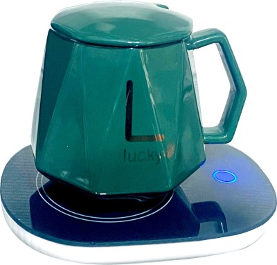 Lemon Tree Electric Coaster Pad, Warmer Cup Pad, Tea Coffee Heater Pad with Mug Induction Cooktop(Green, Touch Panel)