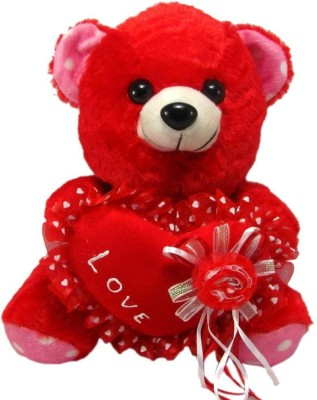 Tickles Lovely Teddy With I Love You Heart   25 cm Red Tickles Soft Toys