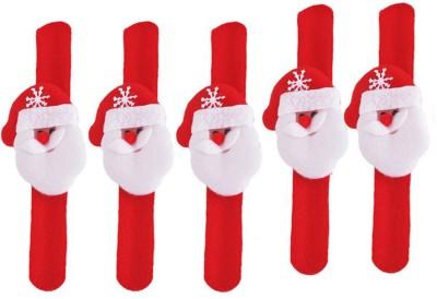 Tickles Christmas Santa Claus Hand Bracelet Band  Set Of 5    21 cm Red Tickles Soft Toys