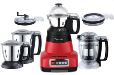 Panasonic Mixer grinder MX-AE 475 Red 750 watts 750 Juicer Mixer Grinder (4 Jars, Red)