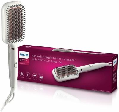 PHILIPS BHH880/50 Hair Straightener Brush(White)