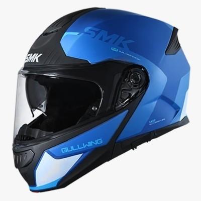 STUDDS GULLWING KRESTO GL551 FULL FACE blue and WHITE Motorbike Helmet(White, Blue)