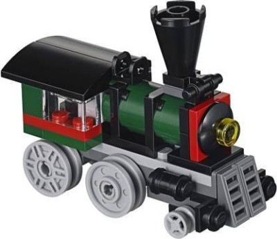 VALGRO Locomotive Train Engine Building Blocks Construction DIY Architecture Toy for Kids Multicolor