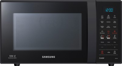 SAMSUNG 21 L Convection Microwave Oven(CE73JD-B, Full Black)