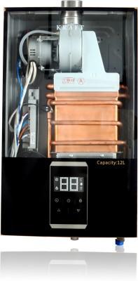 Kraft Italy 12 L Gas Water Geyser (GAS GEYSER TS 12 LTR, Black)