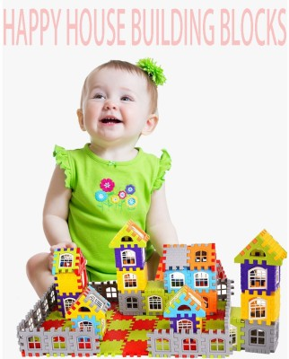 FRAONY My Happy House (72 Blocks + 30Windows) Creative Learning Educational and Entertaning Toy for Kids Puzzle Assemble Indoor Brain Game for Incrase IQ Level of Kids Indoor Entertaining and Puzzle Brain Game(Multicolor)